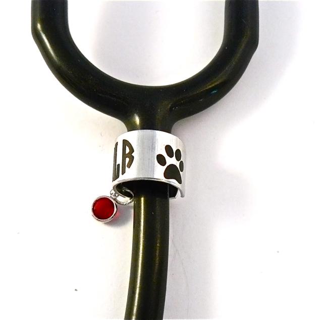 Birthstone Stethoscope cuff/dog paw