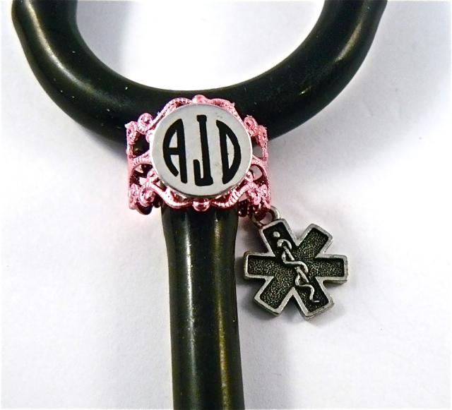 Pink Lace ID ring cuff Paramedic