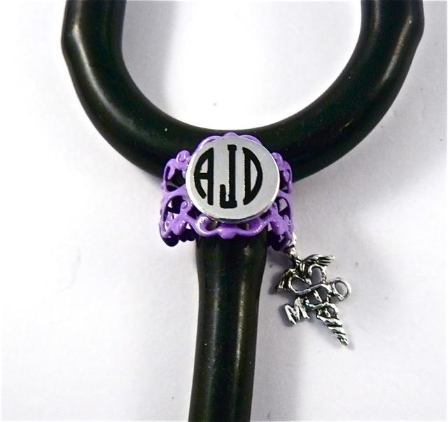 Purple Lace ID ring cuff MD caduceus