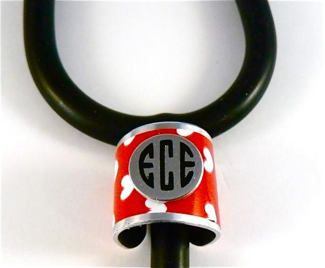 Wide band stethoscope ID cuff hearts