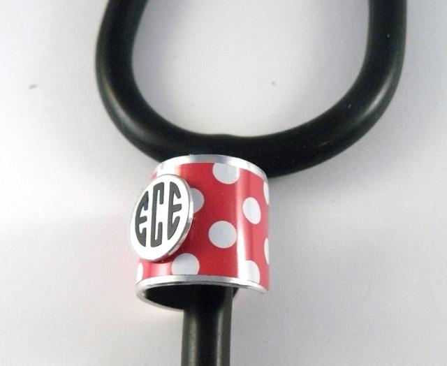 Wide band stethoscope ID cuff polka dots