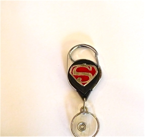 Pewter Superman logo