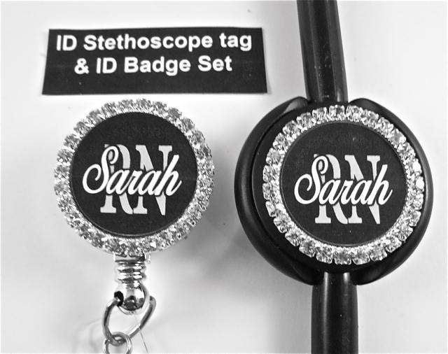 Stethoscope ID Tag & ID badge reel sets