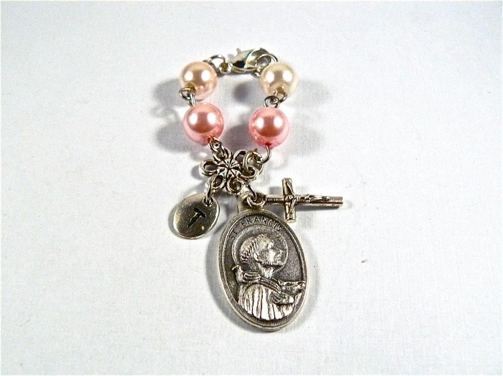 stethoscope charms & rosaries w/saints