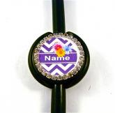 Purple chevron bling