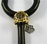 Gold Brass Lace ID stethoscope cuff dog paw