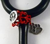 lace Ring cuff, dog paw
