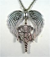 RN caduceus rear view mirror charm