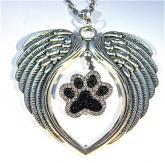 Rhinestone dog paw